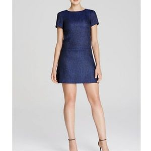 Alice + Olivia Liv Mini Dress Textured Drop Waist